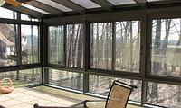 Окно из сотового и монолитного поликарбоната