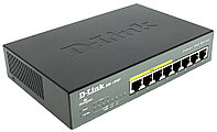 D-Link DGS-1008P/C1BКоммутатор 8-порт10/100/1000 неуправляемый с 4 PoE /