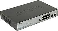 D-Link DGS-1210-10P/ME/A1A Упра-ый комм-ор 2 уровня с 8 поров 10/100/1000 с PoE + 2 SFP /