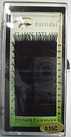 Ресницы единичные черные 0,15С BaiSidai