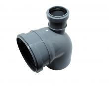Отвод канализационный 110х90гр с прямым выходом 50 ПП