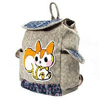 Рюкзак-сумка с аппликацией DANDANTEBU (Серый)