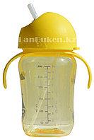 Детская бутылочка 300 мл с мерными делениями (желтая)