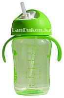 Детская бутылочка 300 мл с мерными делениями (зеленая)