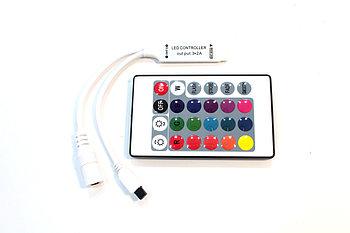 RGB MINI контроллер c пультом 72W12V-M3Q-IR24-MINI