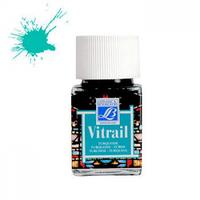 "Краска лаковая прозрачная по стеклу ""Vitrail"" №050 Бирюзовая, 50мл."