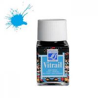 """Краска лаковая прозрачная по стеклу """"Vitrail"""" №087 Лазурно-голубая, 50мл."""