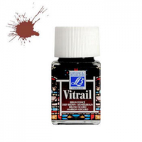 "Краска лаковая прозрачная по стеклу ""Vitrail"" №102 Коричневый, 50мл."