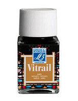 """Краска лаковая прозрачная по стеклу """"Vitrail"""" №145 Охра жёлтая, 50мл."""