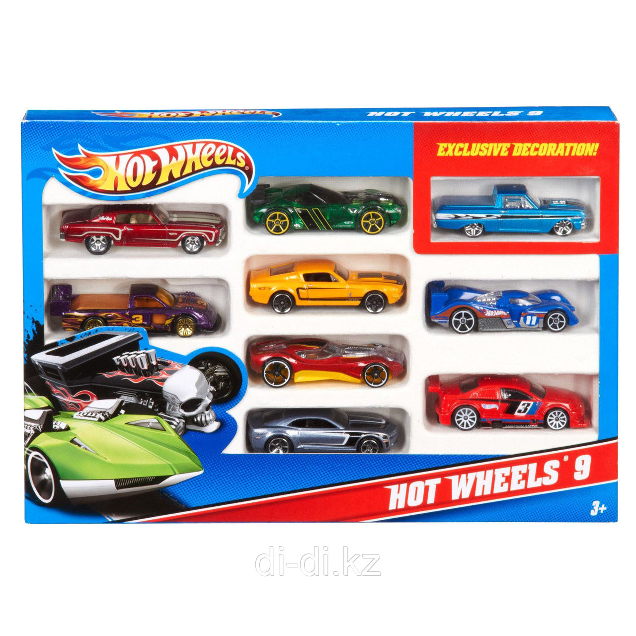 Набор 54886 Подарочный 10 машинок Hot wheels