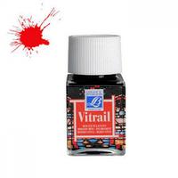 """Краска лаковая прозрачная по стеклу """"Vitrail"""" №433 Ярко-красная, 50мл."""