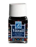 "Краска лаковая прозрачная по стеклу ""Vitrail"" №465 Синяя, 50мл."