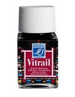 """Краска лаковая прозрачная по стеклу """"Vitrail"""" №466 Глубоко красный, 50мл."""