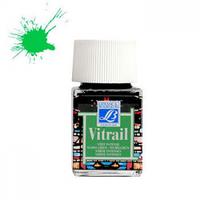"""Краска лаковая прозрачная по стеклу """"Vitrail"""" №534 Зеленая, 50мл."""
