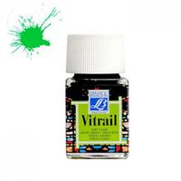 """Краска лаковая прозрачная по стеклу """"Vitrail"""" №556 Зелёный светлый, 50мл."""