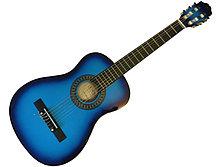 Детская гитара со струнами (синяя)