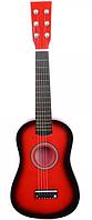 Детская гитара со струнами (красная)