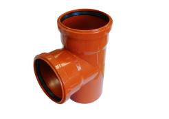 Тройник канализационный 160х160/90 оранжевый
