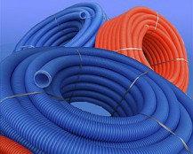 Труба гофрированная D25 (35/29) синий 50м