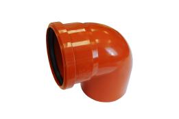 Отвод канализационный 110х90 оранжевый ПП