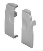 Крепление для передней стенки Moovit, пластмасса, серый металлик