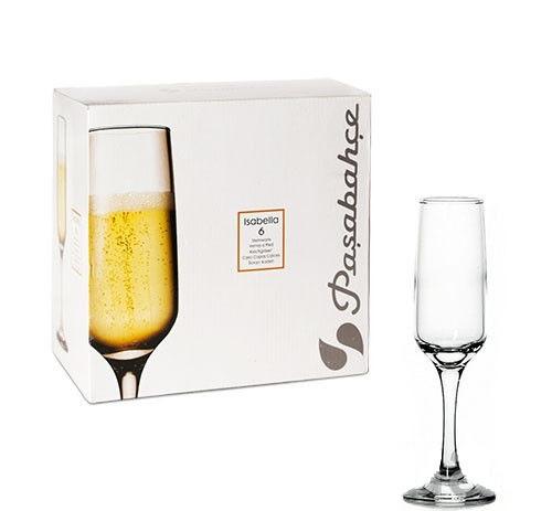 Бокалы для шампанского Pasabahce Isabella 200 мл, 6 шт (440170/6)