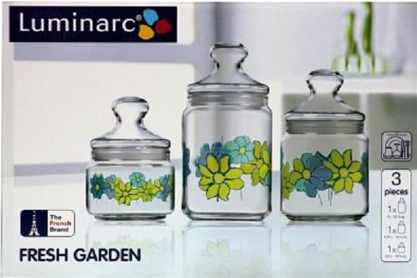 Luminarc Fresh Garden набор банок для сыпучих 3 шт.