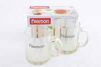 Набор из 2 кружек 350 мл (светло-желтое стекло) FISSMAN