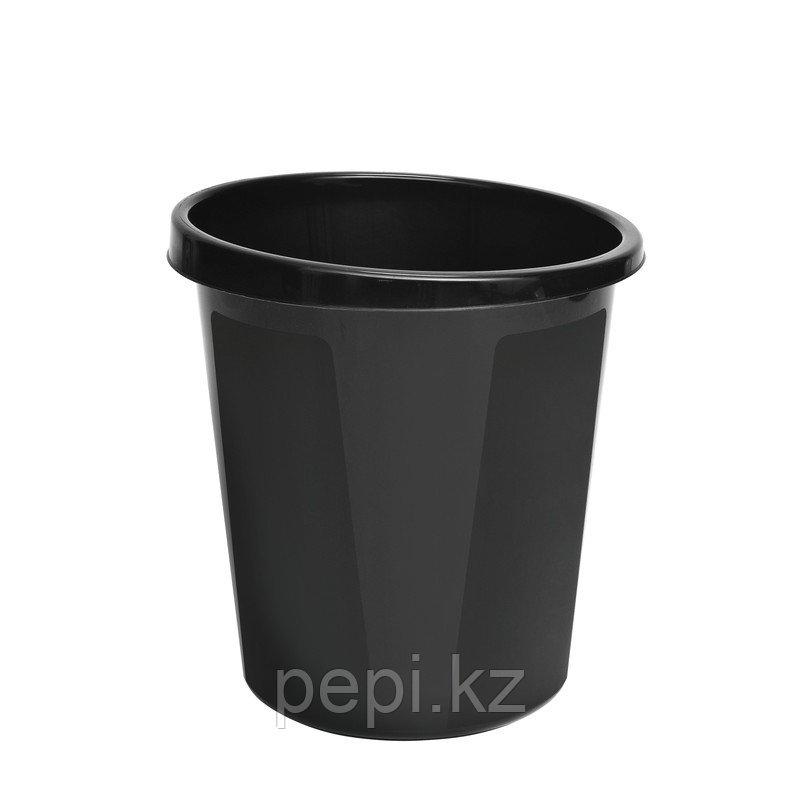 Корзина для бумаг цельная пластиковая  Стамм 9 л