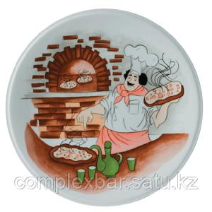 Блюдо для пиццы с рисунком «Барилла»