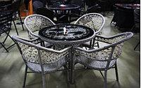 Комплект мебели из искусственного ротанга (стол и стулья), фото 1