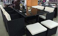 Комплект мебели (стол, 8 кресел и 4 пуфа)