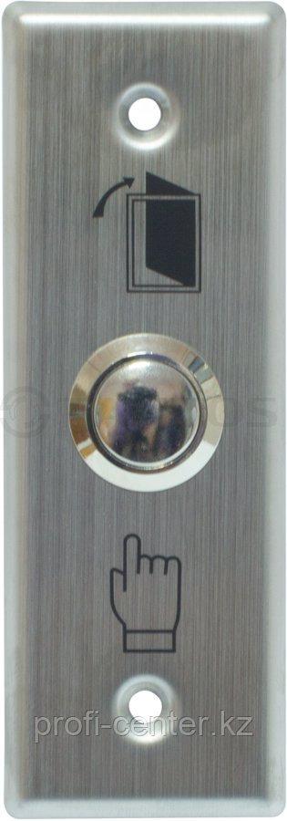 TDE-02 Кнопка выхода прямоугольная, металлическая 2 шурупа в комплекте, размеры: 118х39х5 мм