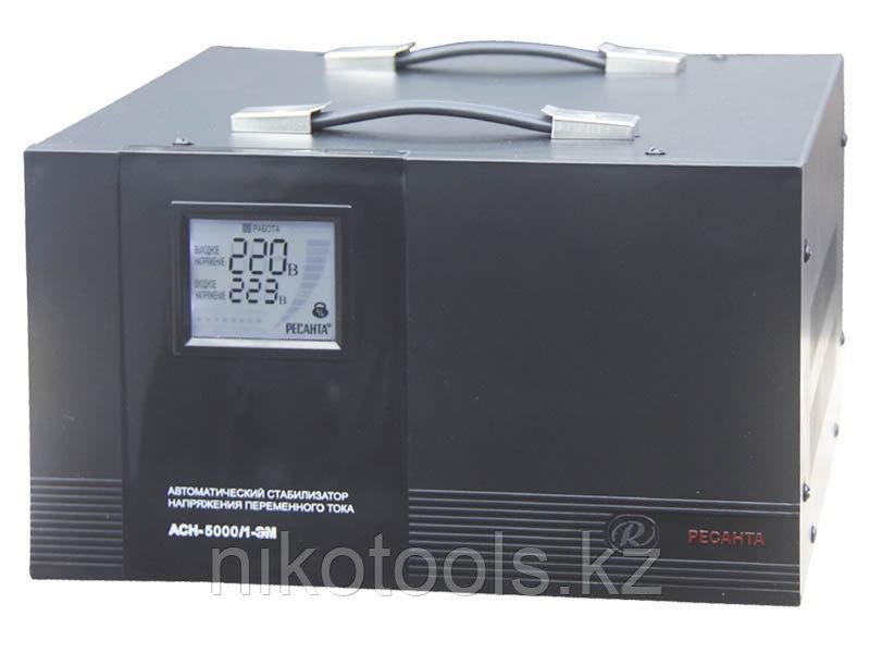 Стабилизатор напряжения электромеханический Ресанта АСН-5000/1-ЭМ в Караганде