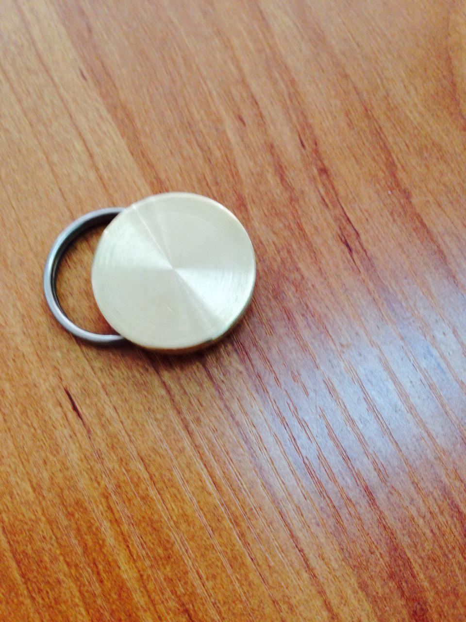 Металлическая печать (пломбир под пластилин с кольцом)