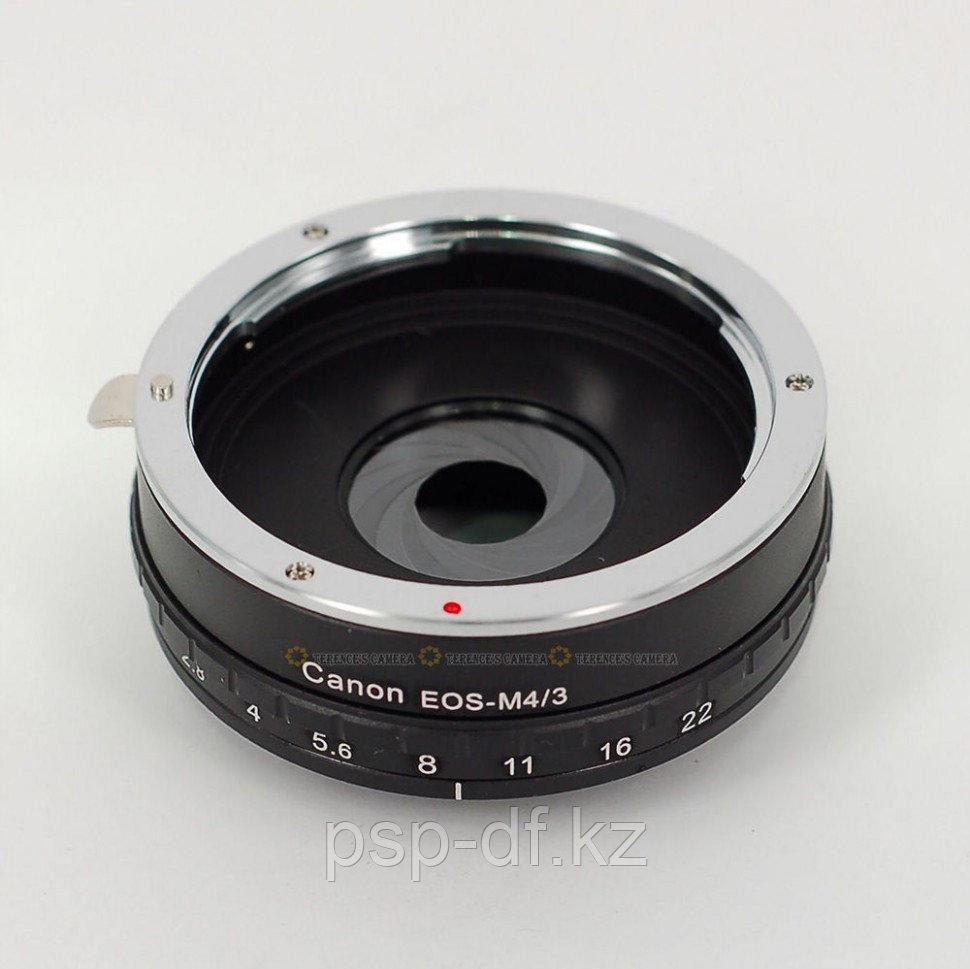 Переходник с ручной регулировкой диафрагммы EOS EF Lens to Micro M4/3 Mount