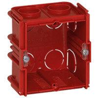 Коробка для кирпичных стен 1 пост (2 модуля) Глубина 50мм