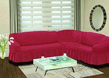 Натяжные чехлы на угловые диваны