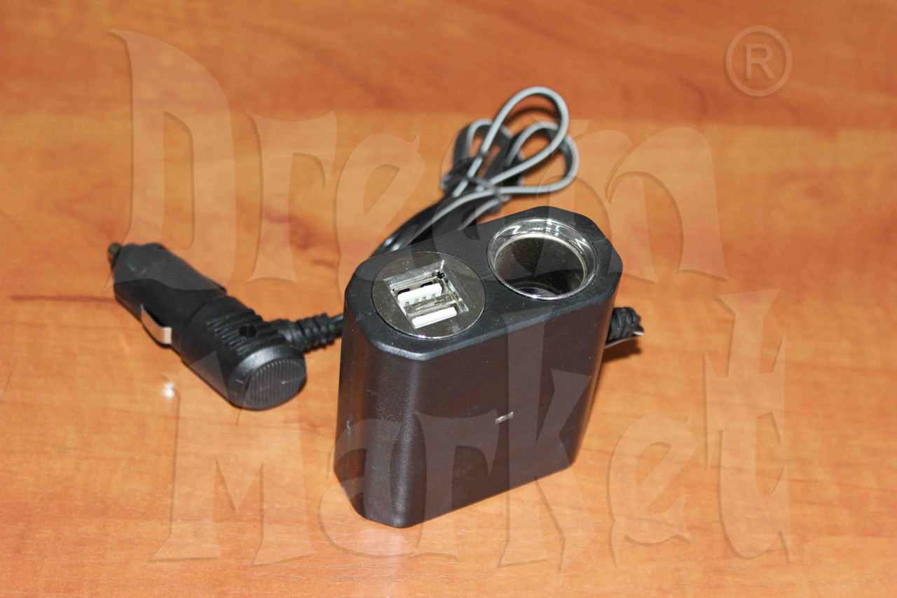 Разветвитель (тройник) в прикуриватель с 2 USB