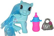Игрушка с аксессуарами MY HAPPY HORSE (май литл пони голубая)