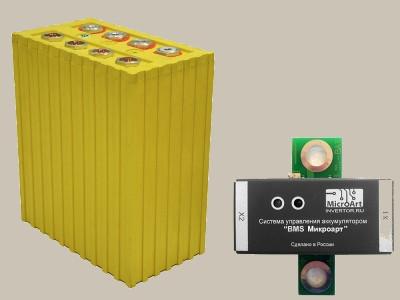 Аккумулятор литий-железо-фосфатный 3,2В 770А*ч в комплекте с BMS