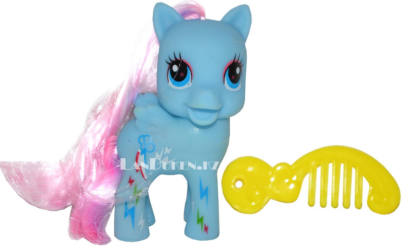 Игрушка с аксессуаром Lovely PONY (май литл пони голубая) - фото 1
