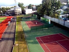 Беговая дорожка и теннисные корты для Федерации тенниса РК на стадионе «Фонда Первого Президента» на пересечении улиц Абая – Розыбакиева 1