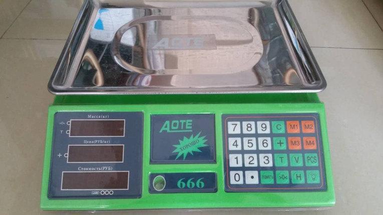 """Весы торговые, настольные """"Aote 666"""" до 35 кг, фото 2"""