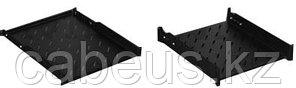 """Hyperline TSDH-1U-450-RAL9004 Полка c 19"""" креплением, 1U, глубиной 450 мм для шкафов с глубиной от 600 мм,"""