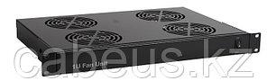 "Hyperline TRFA-4F-RAL9004 Модуль вентиляторный 19"" 1U, глубиной 290мм, с 4-я вентиляторами, номинальная"