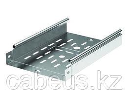 Hyperline BPB19-1U-RAL9005 Фальш-панель на 1U, с щеточным вводом, цвет черный (RAL 9005)