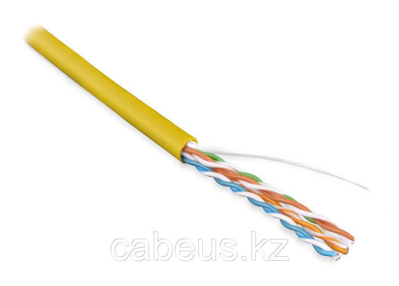 Hyperline UUTP4-C5E-S24-IN-LSZH-YL-305 (305 м) Кабель витая пара, неэкран. U/UTP, категория 5e, 4 пары (24