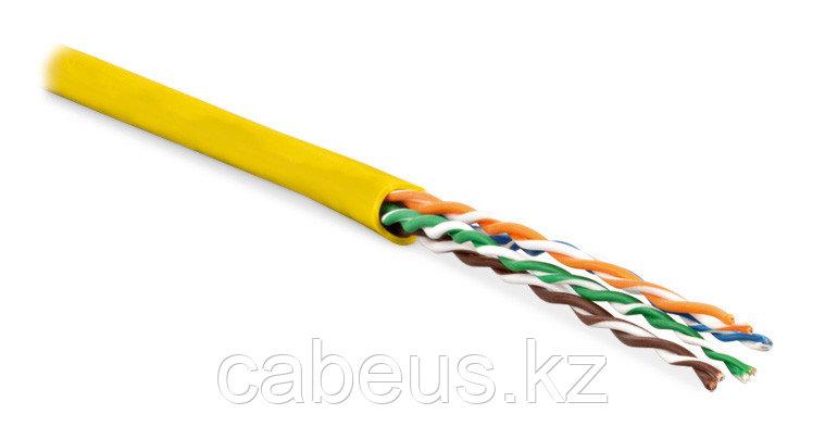 Hyperline UUTP4-C5E-P24-IN-LSZH-YL-100 (100 м) Кабель витая пара, неэкранированная U/UTP, категория 5e, 4 пары