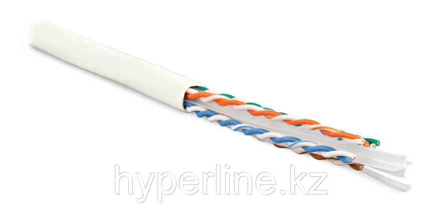 Hyperline UUTP4-C6-S23-IN-LSZH-WH-305 (305 м) Кабель витая пара U/UTP, категория 6, 4 пары (23 AWG),